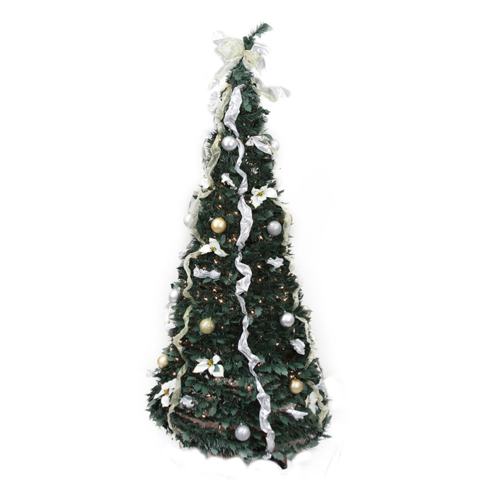 Northlight 6 ft Pre Lit Decorated Pop Up Christmas Tree Walmart