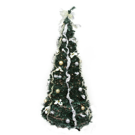 Northlight 6 ft. Pre Lit Decorated Pop Up Christmas Tree
