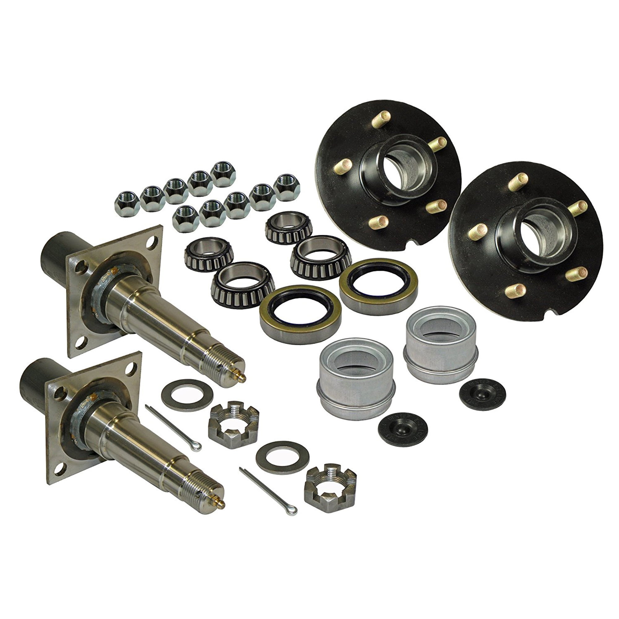 Round Stock Trailer Axle Spindle for 1-3//8 Inch to 1-1//16 Inch I.D Bearings