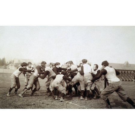 College Football Game 1905 Nan Unidentified American College Football Scrimmage C1905 Rolled Canvas Art -  (24 x 36) College Football Art