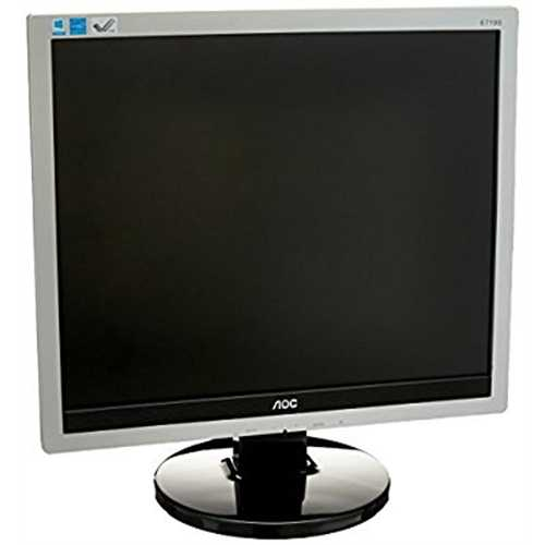 Refurbished AOC E719SD Professional 17'' LED-Backlit LCD Monitor, Black/Silver