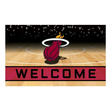 Miami Heat Crumb Rubber Door Mat - Miami Heat Decorations