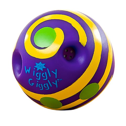 Toysmith Mini Wiggly Giggly Ball - Yellow/Purple