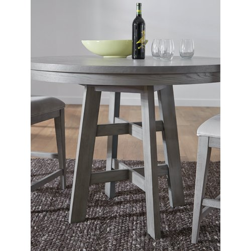 Brayden Studio Pingree Counter Height Solid Wood Dining Table