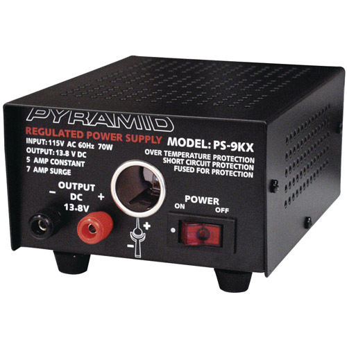 Pyramid PS9KX Power Supply (5A/7A with Car Charger Plug)