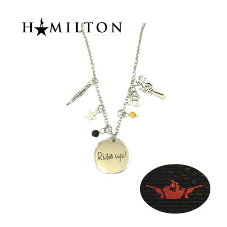 Hamilton Necklace Pendant - Rise Up - Broadway Musical Cosplay - Up Jewelry