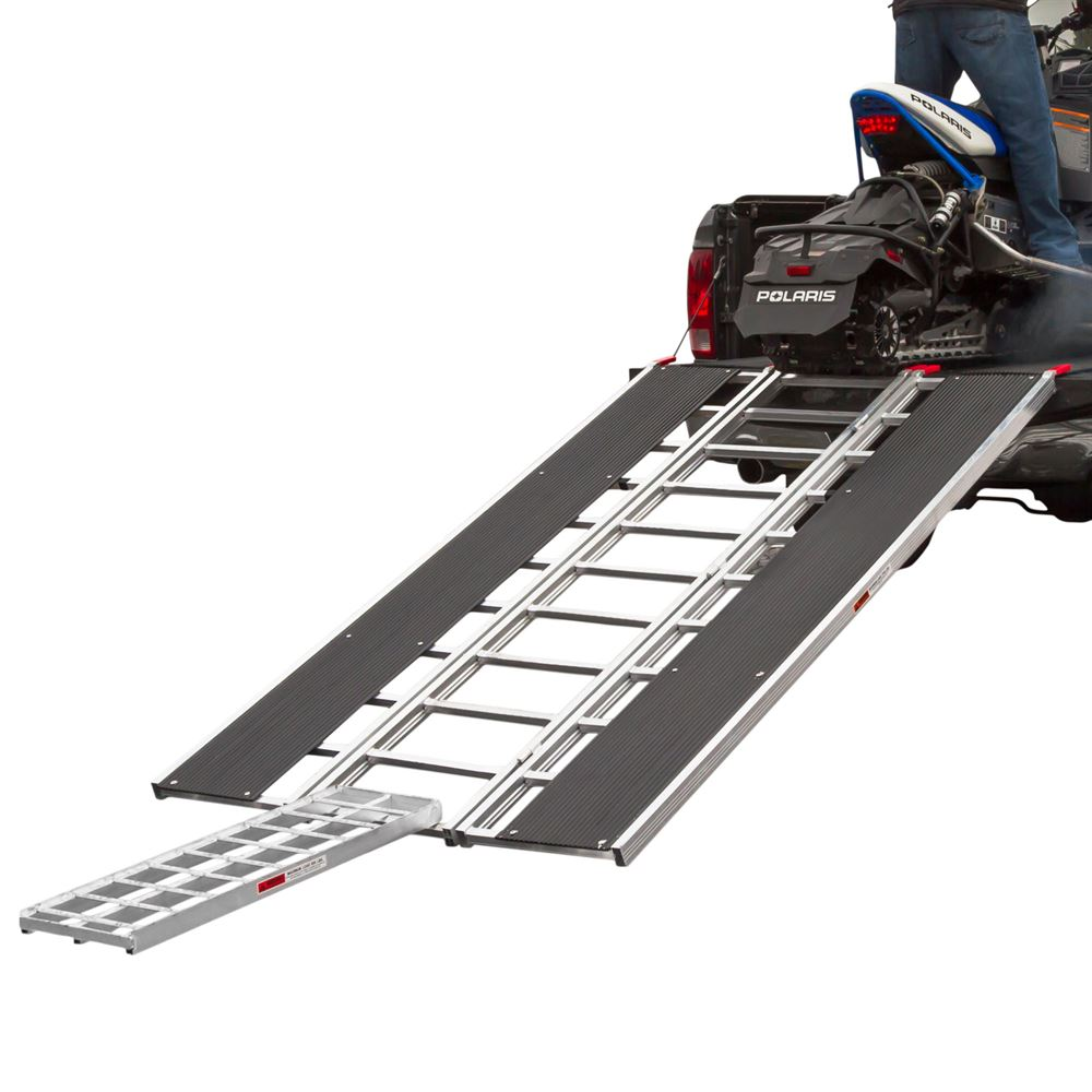 """94"""" x 54"""" Snowmobile Loading Ramp with Center Track Extension"""