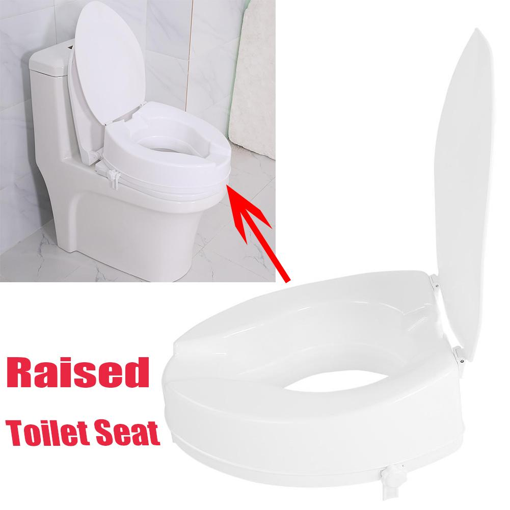 Walfront 10cm Elevated Adjustable Detachable Raised Toilet