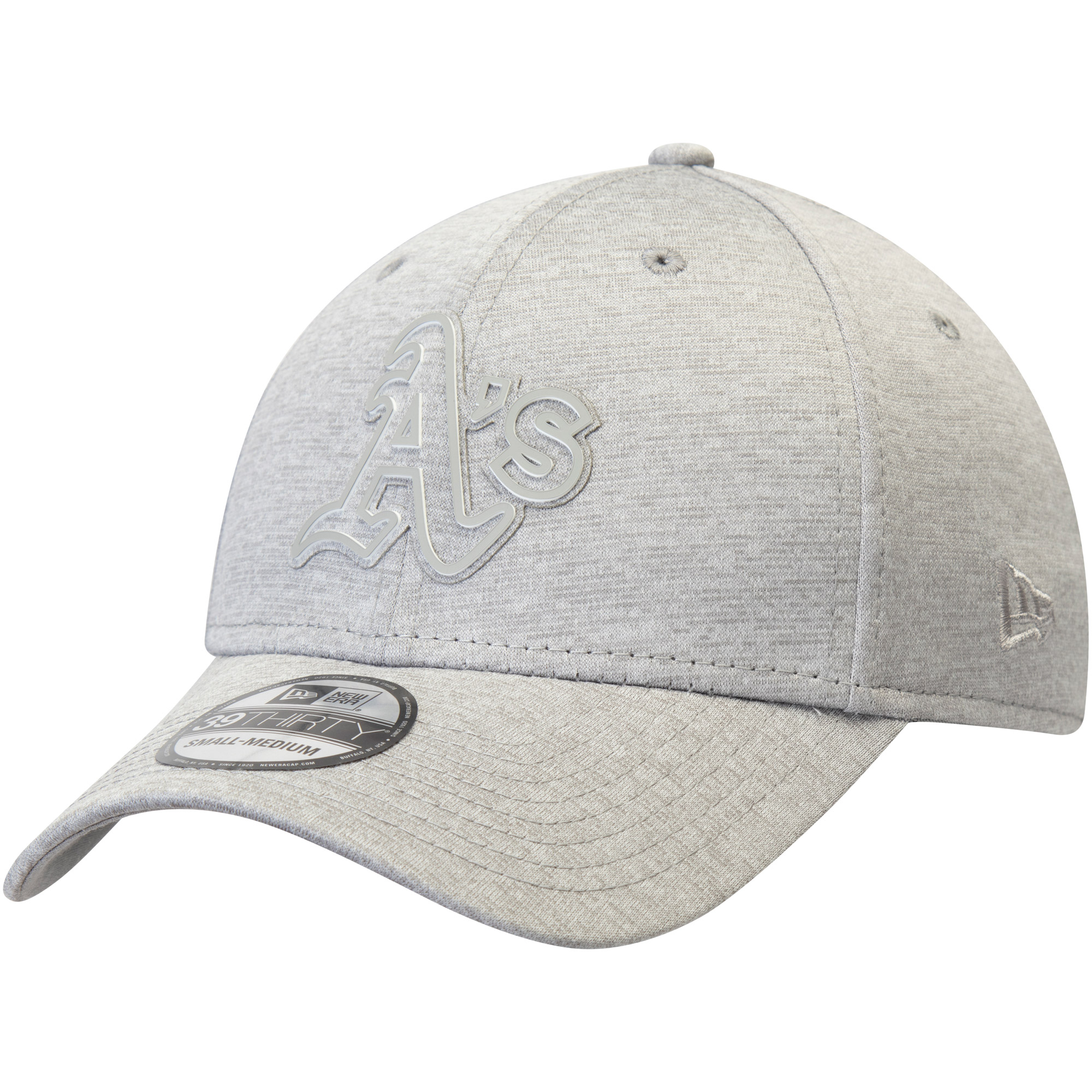 Oakland Athletics New Era Logo Shade 39THIRTY Flex Hat - Gray