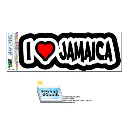 I Love Heart Jamaica SLAP-STICKZ(TM) Premium Sticker - I Heart Ny Sticker