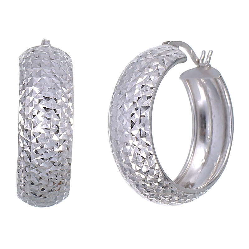 sterling silver hoop earrings 3 4 inch walmart