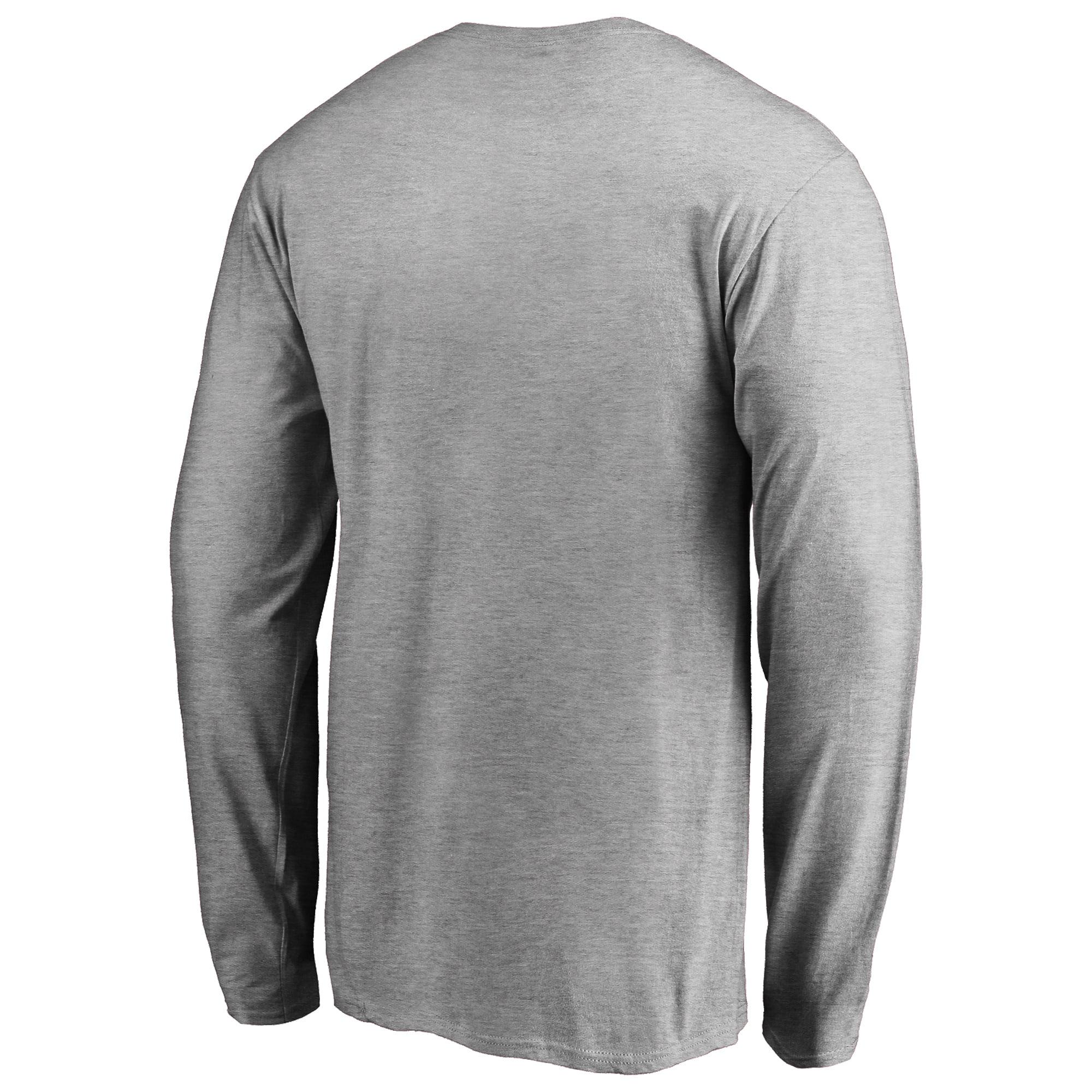 Utah Jazz Fanatics Branded Primary Logo Long Sleeve T-Shirt - Heather Gray  - Walmart.com 3c6b49b13