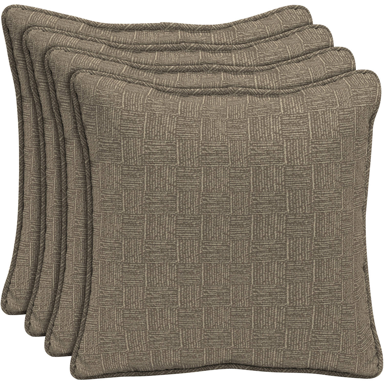 "Arden Outdoors 18"" Square Pillow with Welt, Set of 4"