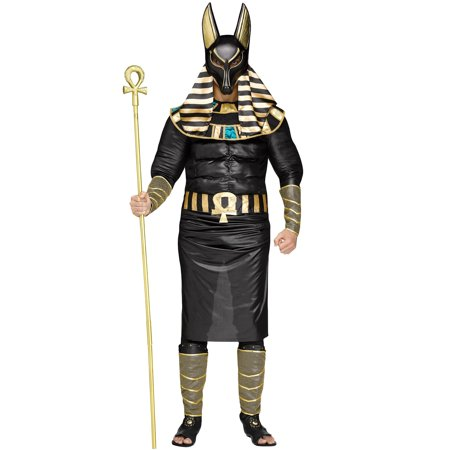 Adult's Mens Egyptian Patron God Anubis Afterlife Dog Deity Costume