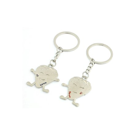 Lovers Couple Gender Symbol Strawberry Pendant Keyrings Keychain -