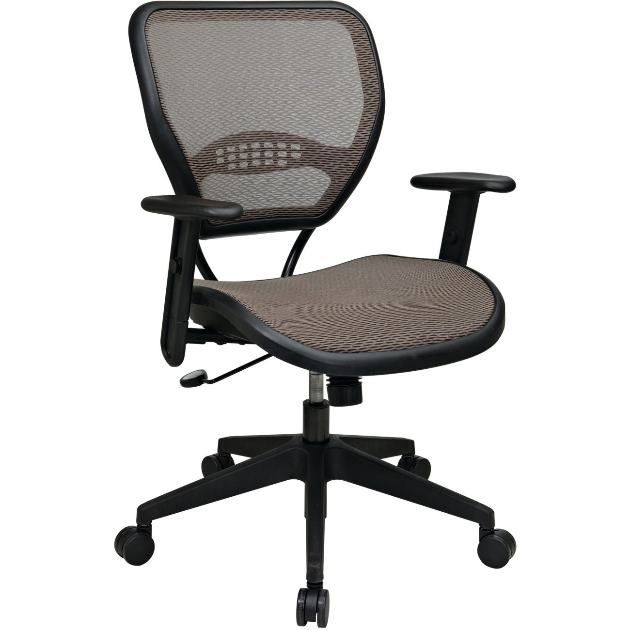 Office Star Professional Air Grid Deluxe Task Chair office star space seating deluxe airgrid task chair, latte