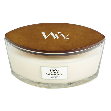 WoodWick White Teak - Ellipse Candle