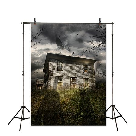 GreenDecor Polyster Halloween 5x7ft Theme terror party Backdrop background Computer Printed photography horrible ghosts invades the house dusk sky photo studio backdrops prop wallpaper mural - Computer Themed Halloween Costumes