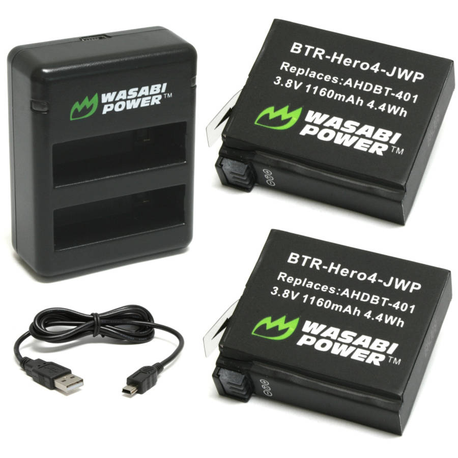 Wasabi Power Dual USB Charger and 2 Li-ion Batteries Kit