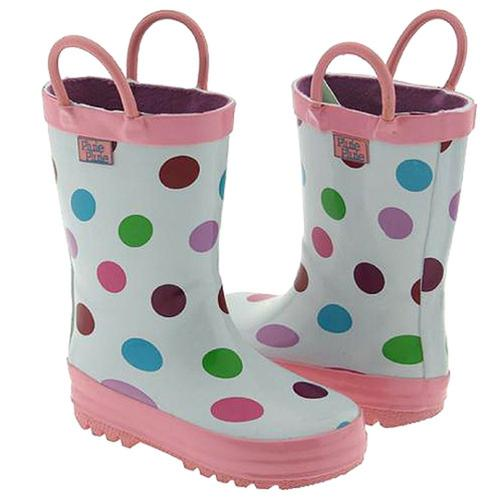 Pluie Pluie Little Girls White Polka Dot Rain Boots 12