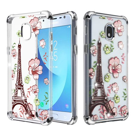 - Klarion Crystal Clear Diamond Tough Case for Samsung Galaxy J3 (2018) / J3 Achieve / J3 Star - Eiffel Tower