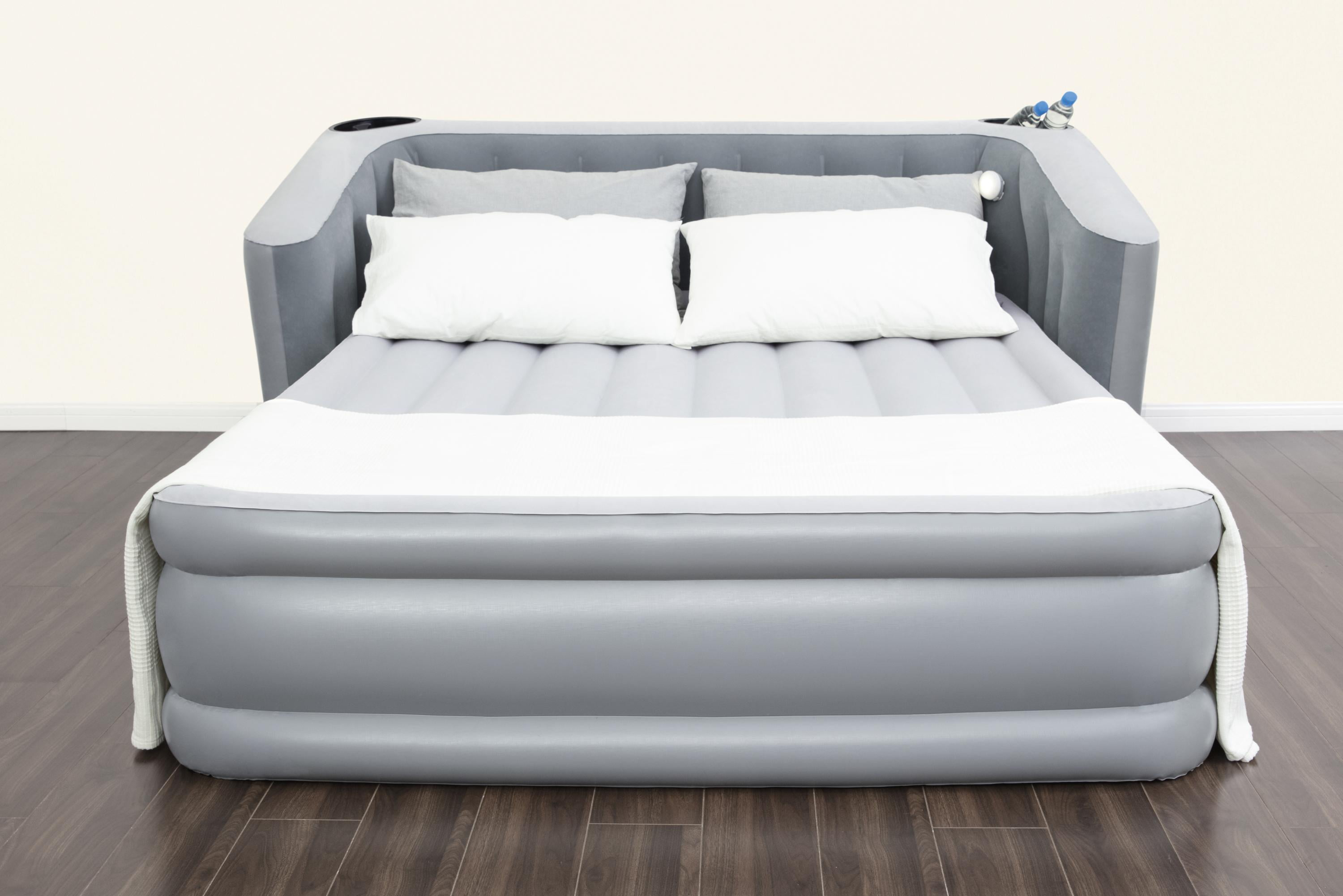Bestway Queen 31 5 Tritech Wingback Headboard Air Mattress With Built In Ac Pump Walmart Com Walmart Com