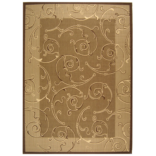Safavieh Courtyard Brown & Natural Outdoor Area Rug