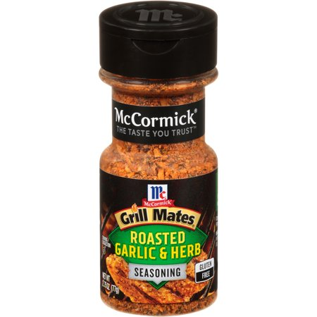 (2 Pack) McCormick Grill Mates Roasted Garlic & Herb Seasoning, 2.75 oz (Mccormick Lemon Herb Seasoning)