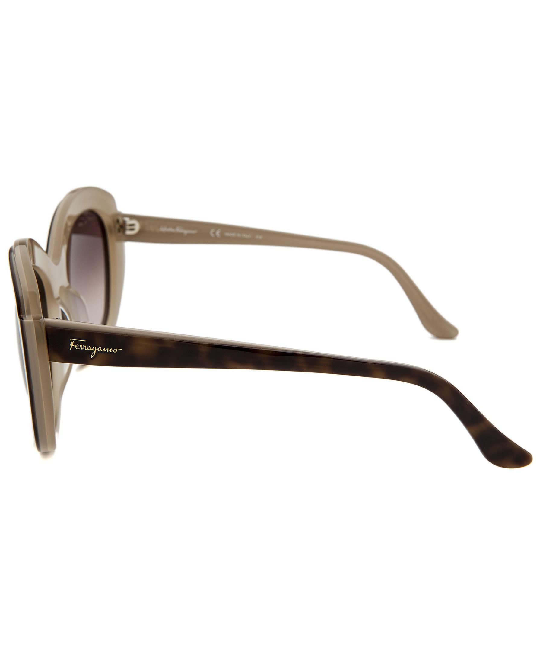 7bc67f6706e Ferragamo - Ferragamo Sunglasses SF726S   Frame  Havana Beige Lens  Brown  Gradient - Walmart.com