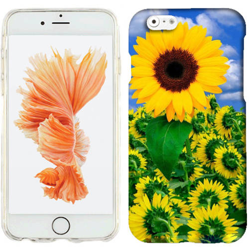 Mundaze Sunflower Field Phone Case Cover for Apple iPhone 6S Plus/6 Plus