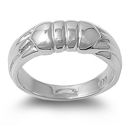 High Polish Grooved Bar Line Fashion Ring ( Sizes 6 7 8 9 10 ) .925 Sterling Silver Band Rings by Sac Silver (Size 8) (Grooved Sterling Silver Fashion Ring)