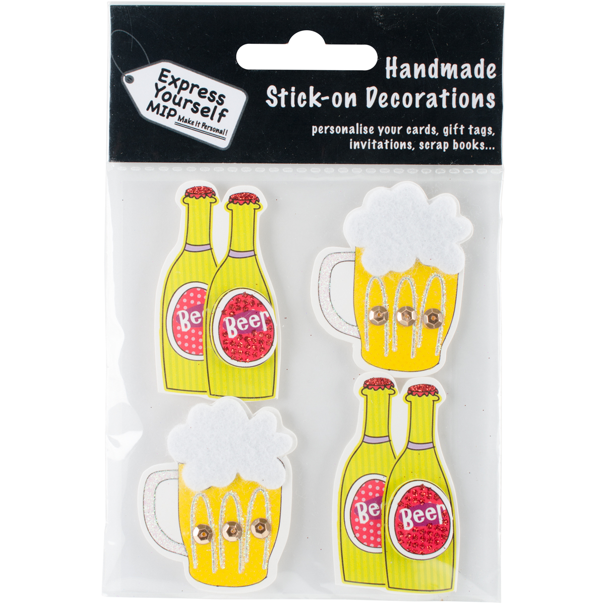 Express Yourself MIP 3D Stickers-Drinks