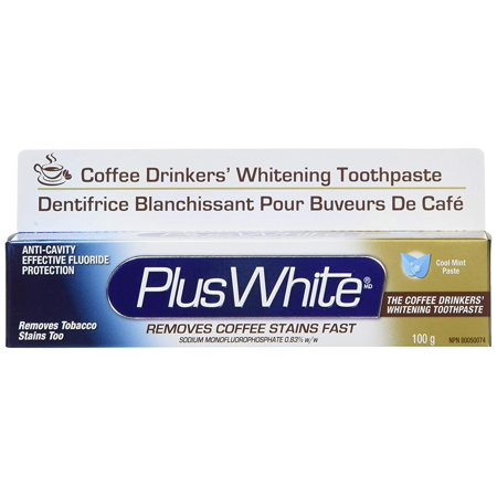 2 Pack Plus White The Coffee Drinkers Whitening Toothpaste, Cool Mint, 3.5 oz ea Coffee Drinkers Whitening Toothpaste