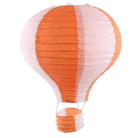 Festival Party Paper DIY Handmade Lightless Hot Air Balloon Lantern Orange White