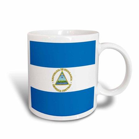 3dRose Nicaragua Flag, Ceramic Mug, 15-ounce