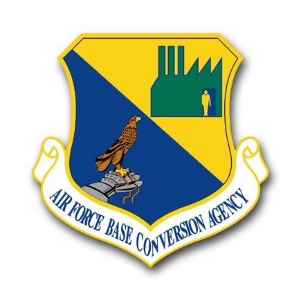 3.8 Inch Air Force Base Conversion Agency Vinyl Transfer Decal
