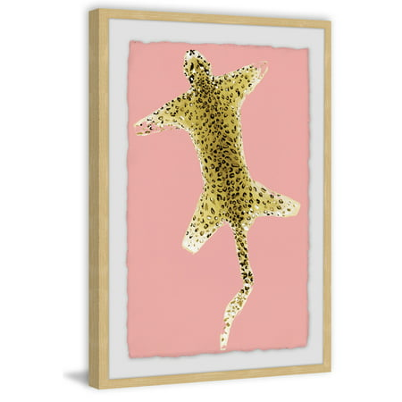 Cheetah Carpet Framed Painting (Colorful Cheetah Print)