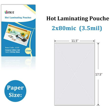 Hot Thermal Laminating Pouches 11 5x17 5 100 Sheets 3 5mil For Sealed 11x17 Inches Document Uinkit Walmart Canada