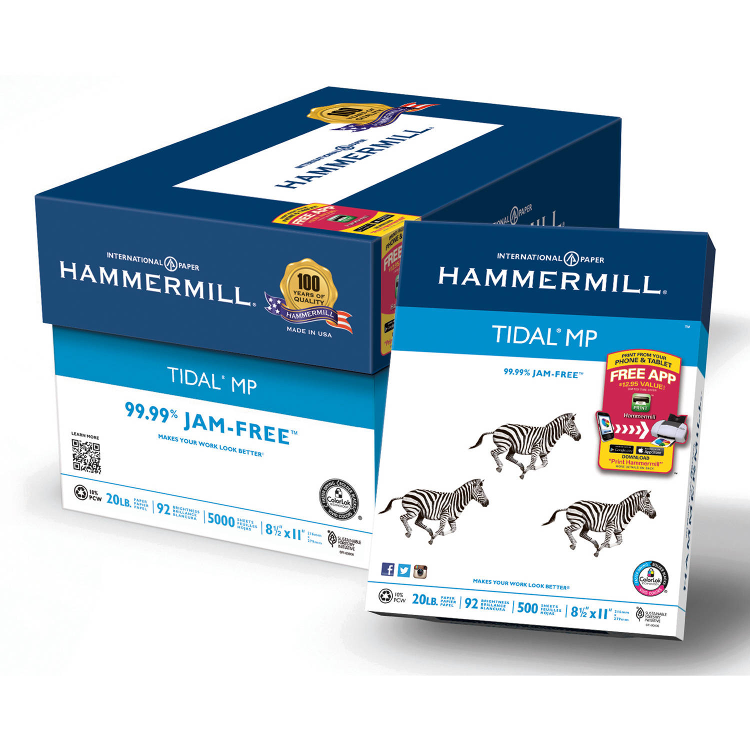 "Hammermill Everyday Copy And Print Paper 8.5"" x 11"", 92 Bright, 20lb, Case of 10 Reams (500 Sheets Per Ream)"