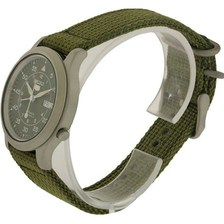 Best Seiko 5 Military Green Canvas Automatic Men