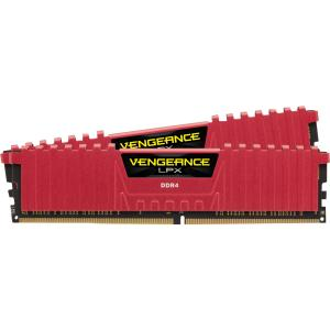 Corsair Vengeance LPX 16GB (2x8GB) DDR4 DRAM 2400MHz C14 Memory Kit - Red