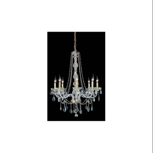 Verona Clear Crystal Chandelier w 8 Lights in Gold (Royal Cut)