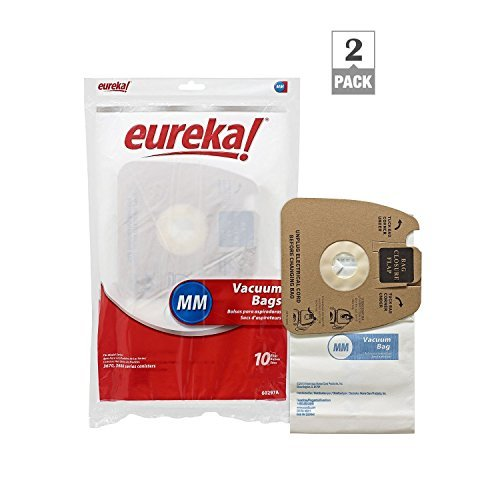 Genuine Eureka MM Vacuum Bag 60297A Style -(2 packs of 10 = 20 Bags)