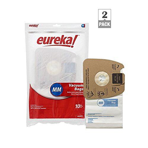 Genuine Eureka MM Vacuum Bag 60297A Style -(2 packs of 10 = 20 Bags)