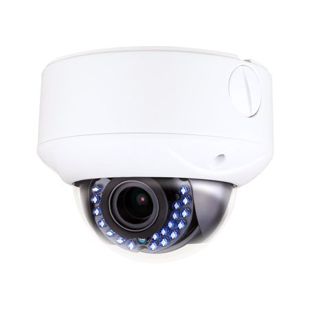 Vandal Proof Infrared 36 Led - Monoprice TVI Dome Camera, IP66 Rated Vandal Proof 2.8-12mm Vari-focal, 2MP, HD1080P, 1/2.7in Sensor, 24 Smart IR LEDs,