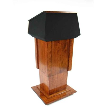 View Executive Wood Presidential Lift Wood Podium  Recommended Item