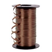 "3/16"" Wedding Balloon Curling Crimped Ribbon  -Brown"