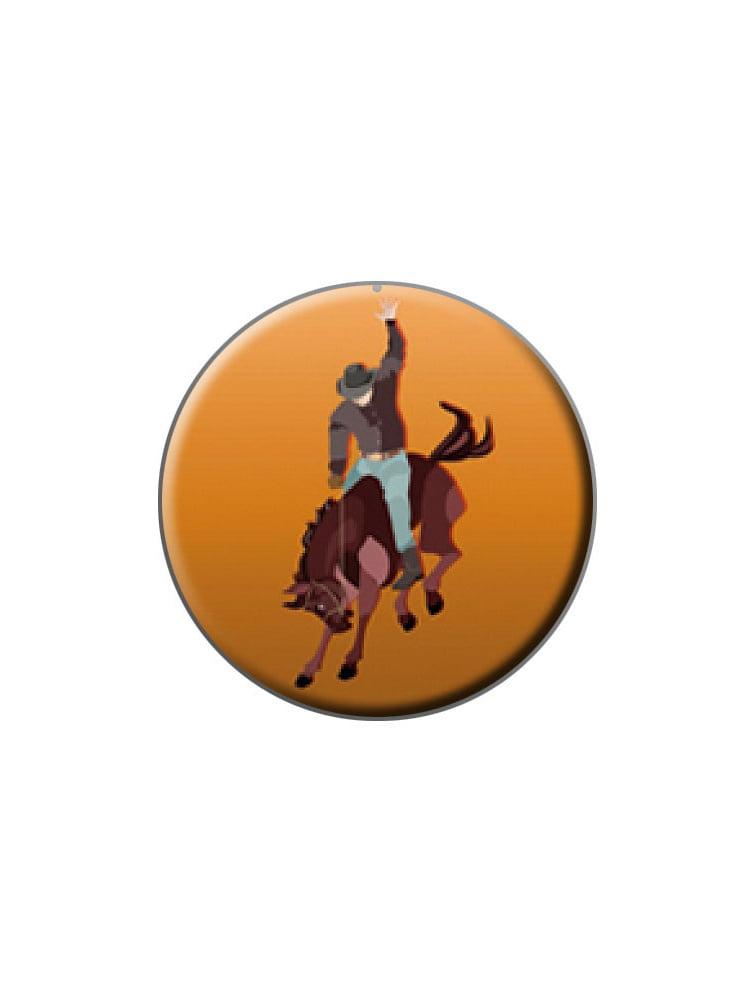 Verzamelingen Rodeo Cowboy Orange Western Horse Country Pinback Button Pin Badge