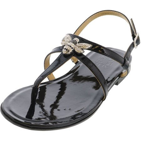 Naturalizer Women's Tilly Patent Black Ankle-High Sandal - 7W