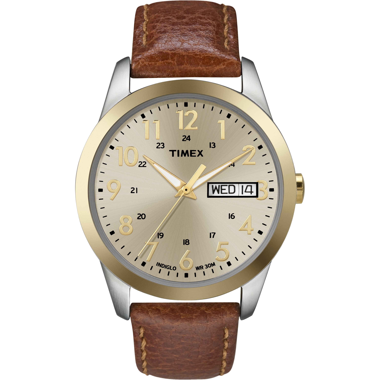 Men's South Street Sport Watch, Brown Leather Strap